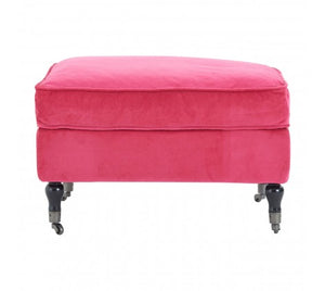 Sasha Plush Velvet Footstool, Pink STOCK DUE IN JANUARY 2020