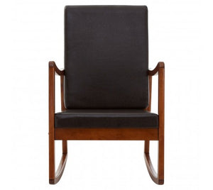 Papa Rocking Chair, Black / Dark Wood