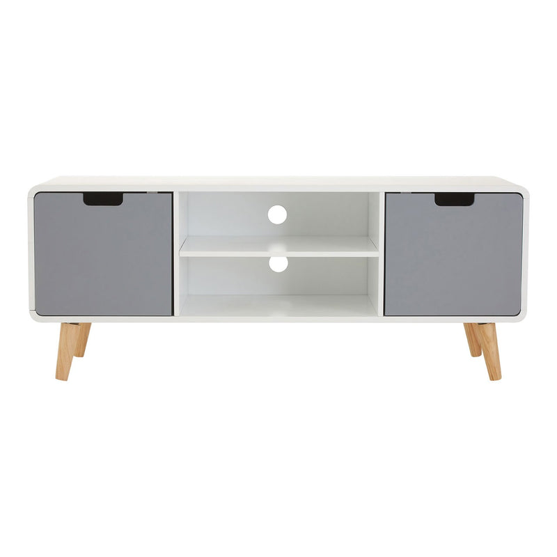 Agatha Media Unit, White / Grey