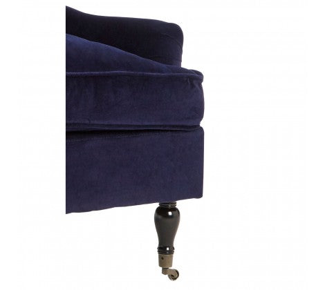 Sasha Plush Velvet Armchair, Midnight Blue