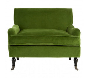 Sasha Plush Velvet Armchair, Olive Green STOCK DUE IN JANUARY 2020