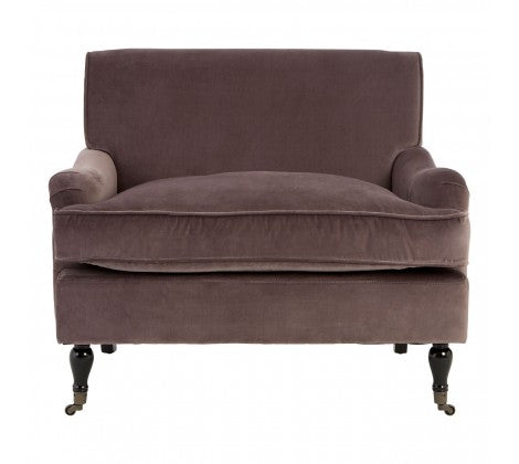 Sasha Plush Velvet Armchair, Grey