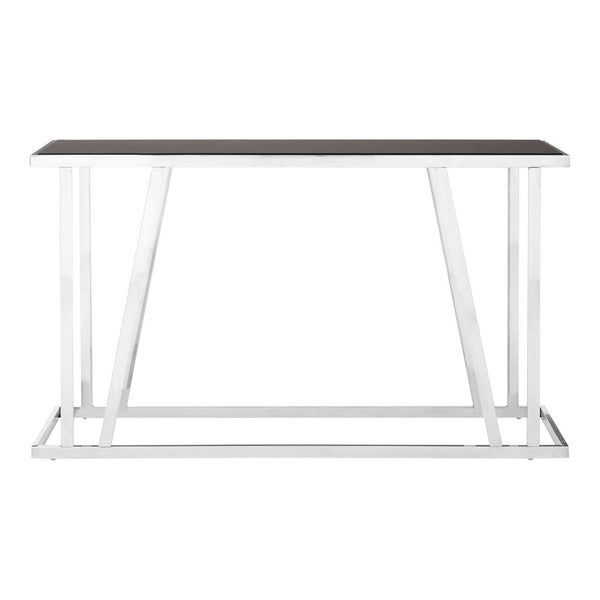 Alice Console Table, Black Glass Top