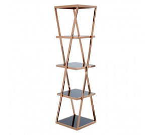 Mackenzie Shelf Unit, Rose Gold