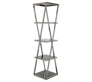 Mackenzie Shelf Unit, Chrome
