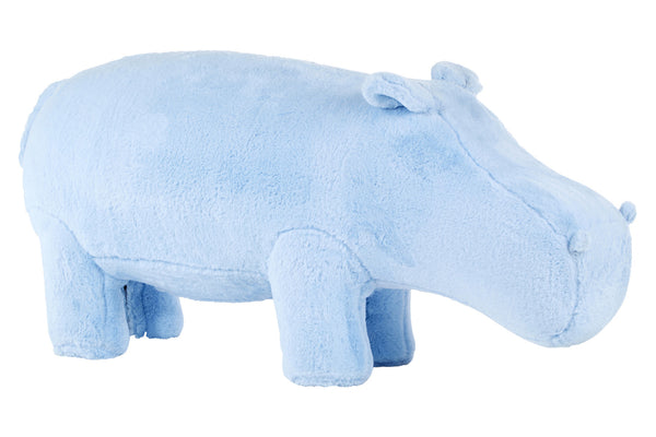Hippo Plush Animal Chair, Blue