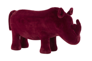 Rhino Plush Animal Chair, Maroon