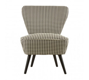 Freida Accent Chair, Black / White