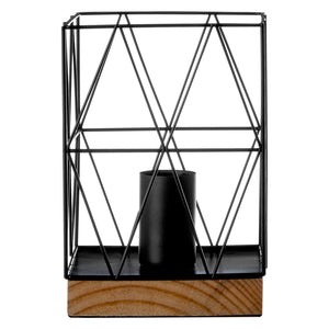 Thelma Table Lamp, Black Wire