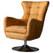 Harrington Leather Swivel Chair, Distressed Tan
