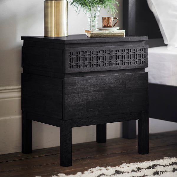 Felicity Bedside Table, Ebony