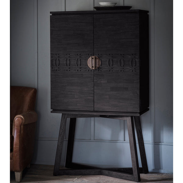 Felicity Cocktail Cabinet, Ebony