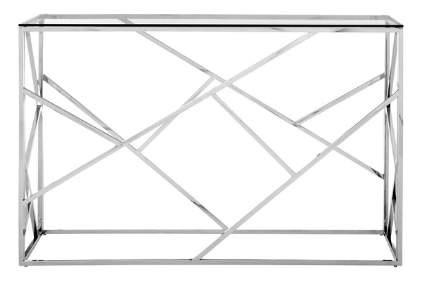 Esther Console Table, Stainless Steel