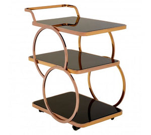 Vanessa Drinks Trolley, Rose Gold