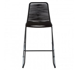 Daisy Rope Bar Stool, Black