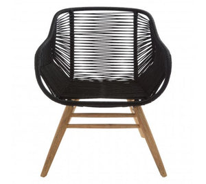 Daisy Rope Armchair, Black