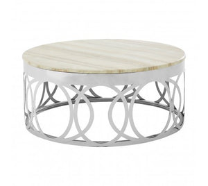 Gloria White Marble Coffee Table