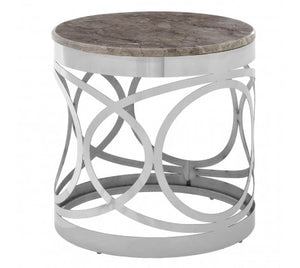 Gloria Side Table, Marble / Steel