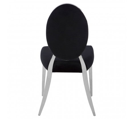 Gloria Dining Chair, Black Velvet