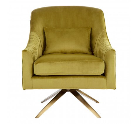 Morag Velvet Accent Chair, Mustard