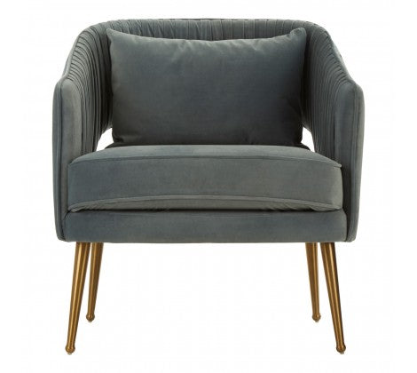 Morag Velvet Arm Chair, Blue