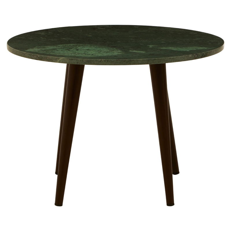 Lucy Coffee Table, Green / White Marble