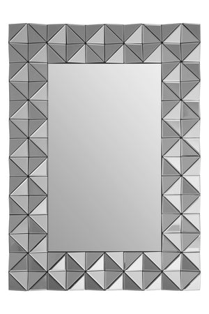 Gayle 3D Geometric Wall Mirror, Smoked Glass