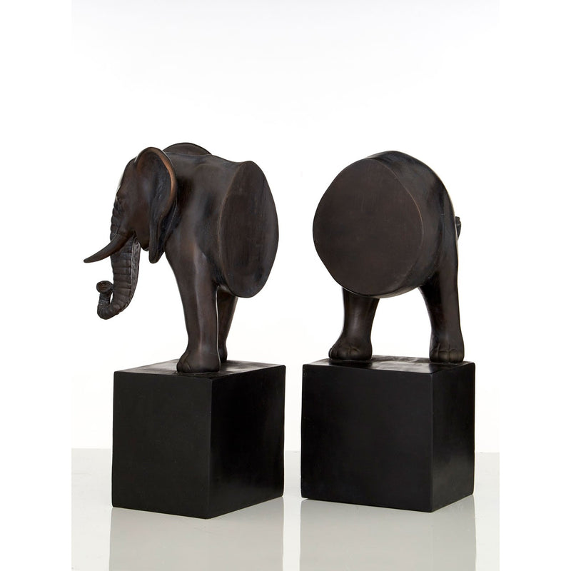 Elephant Bookends, Bronze