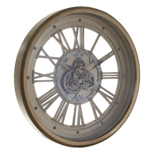 Ines Wall Clock, Antique Gold