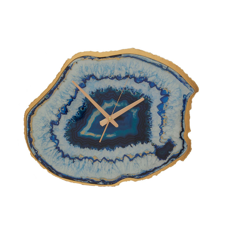 Abigail Agate Effect Wall Clock, Blue