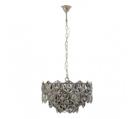 Eleanor Smoked Glass Chandelier, Grey