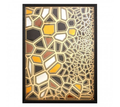 Raff, Paper Wall Art, Black / Gold