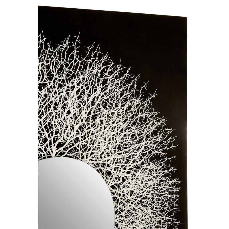 Dahlia Twigs Wall Art, Black / Silver