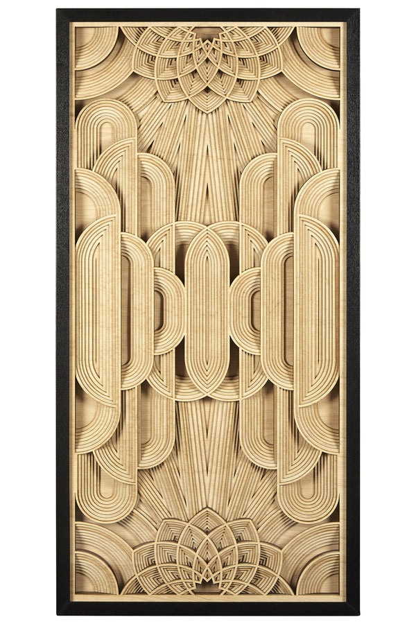 Dahlia Carved Wood Wall Art, Pine