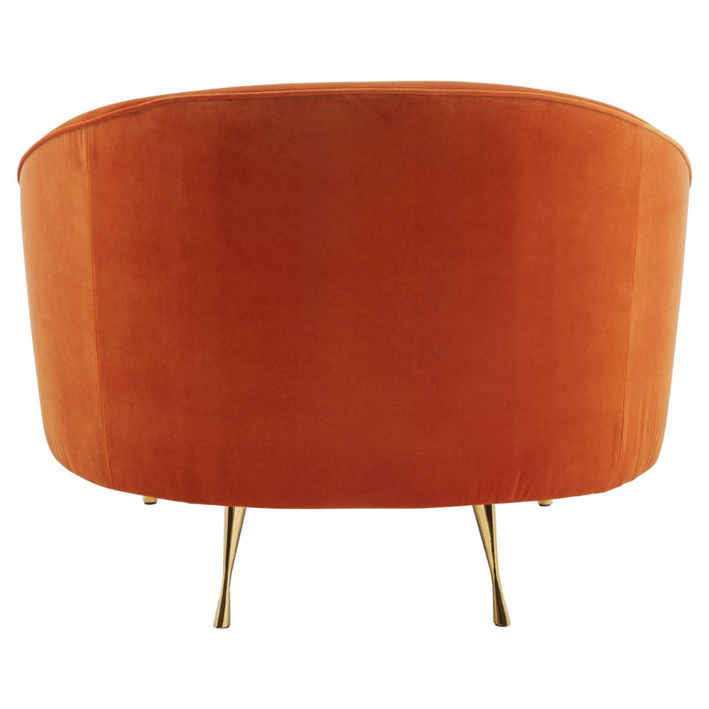 Carrie Accent Chair, Burnt Orange