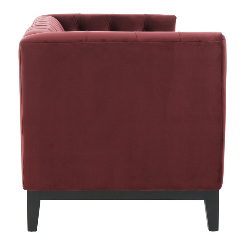 Sabrina 2 Seater Sofa, Crimson