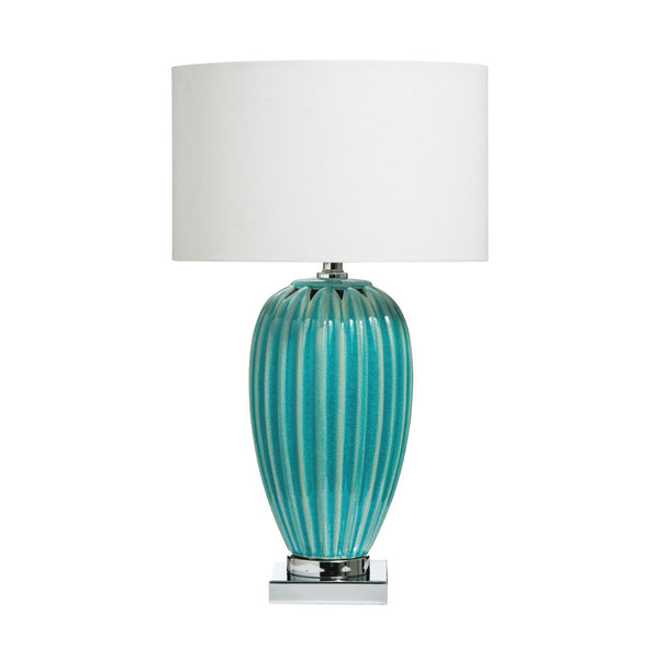 Ariel Table Lamp, Aquamarine