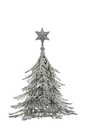 Christmas Tree Ornament, Silver Grey