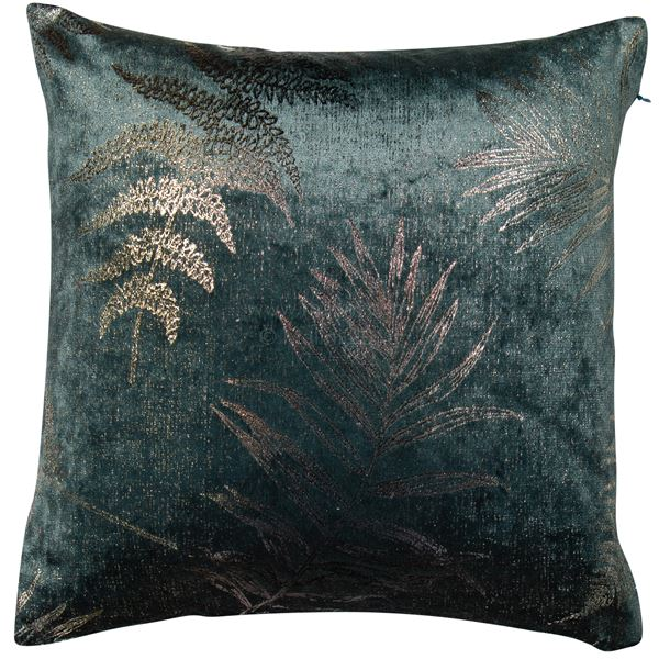 Metallic Leaf Square feather filled Cushion