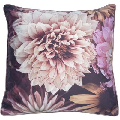 Floral Pink Square feather filled Cushion
