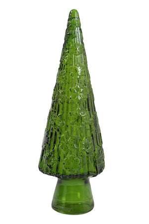 Christmas Tree Lamp, Green Glass
