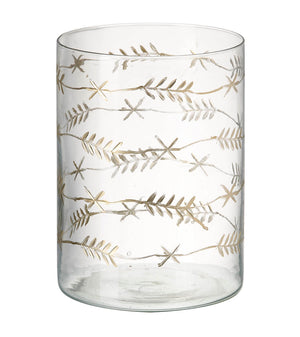 Laurel Leaf Tea Light Holder, Glass / Gold