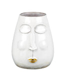 Kimmy Ceramic Vase, White / Gold