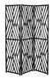 Holly Room Divider, Distressed Black Rattan