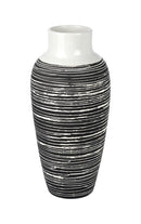 Roberta Large Ceramic Vase, Black / White