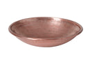 Leaf Embossed Large Bowl, Deep Blush Metal