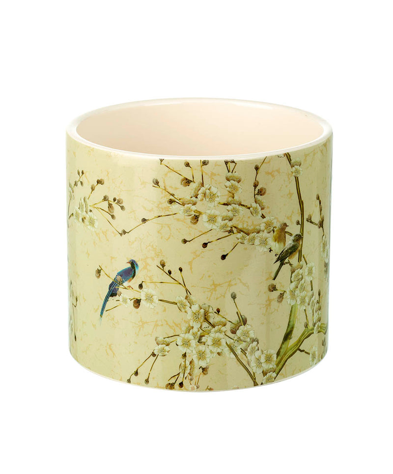 Mildred Medium Planter, Vintage Bird