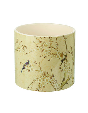 Mildred Large Planter, Vintage Birds