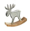 Rocking Moose Ornament, Wood / Aluminium