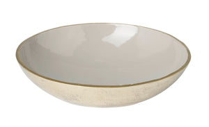 Sienna Large Decorative Bowl, Grey / Gold Enamel